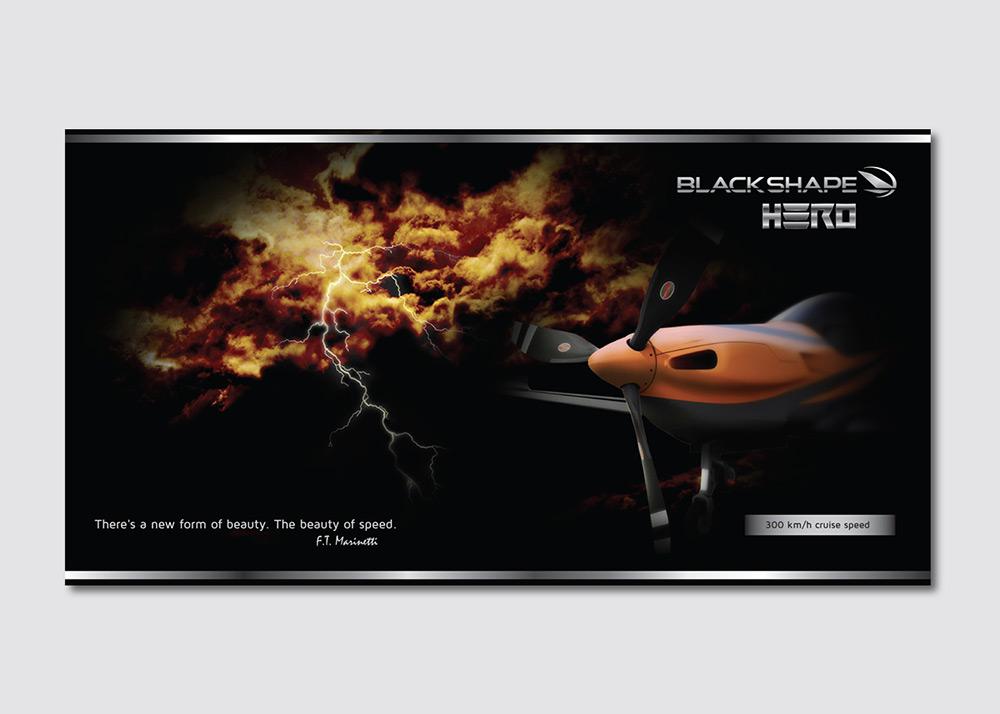 Blackshape campagna di comunicazione aircraft