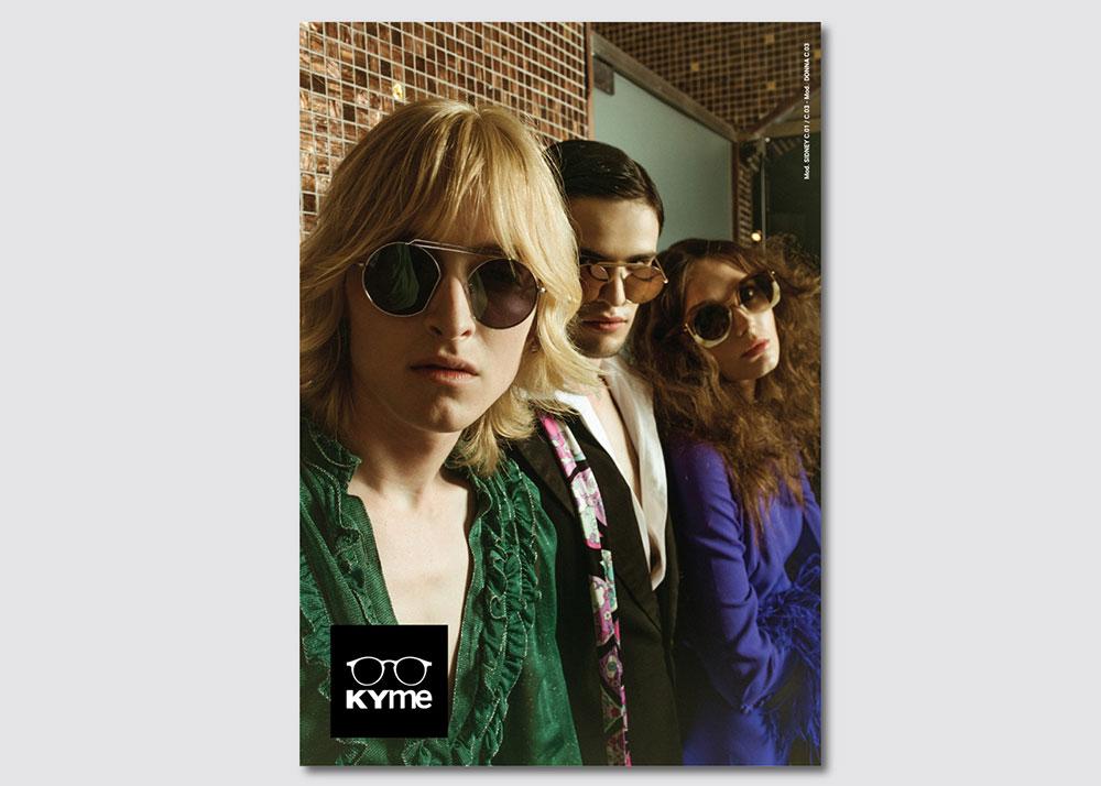 Kyme campagna di comunicazione occhiali da sole