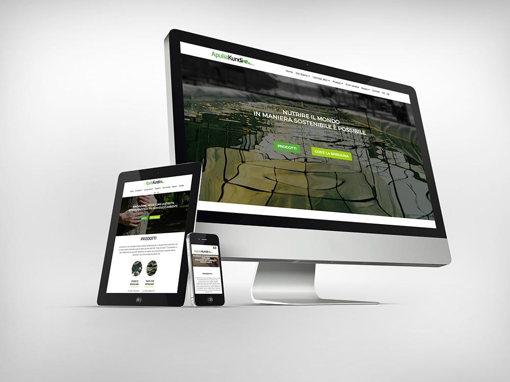 Realizzazione sito web per ApuliaKundi Spirulina Bari