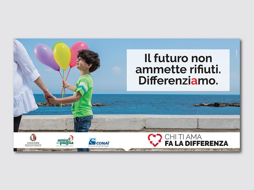 Campagna per la raccolta porta a porta Bari
