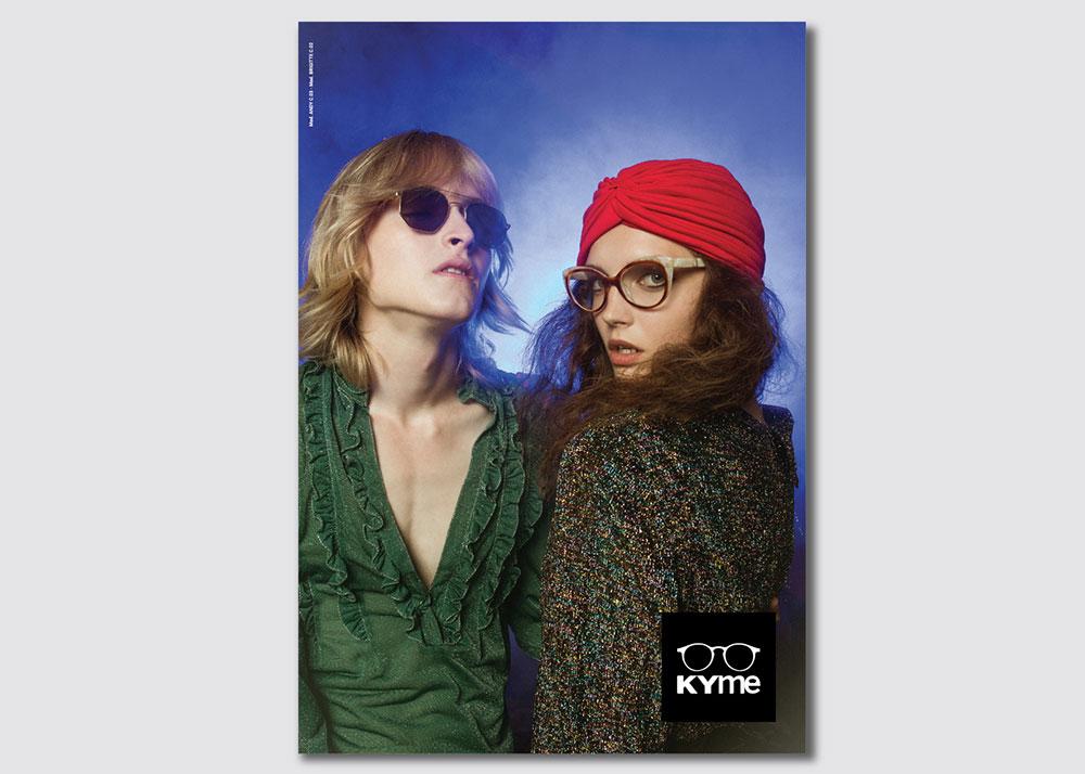 Kyme eyewear communication campaign