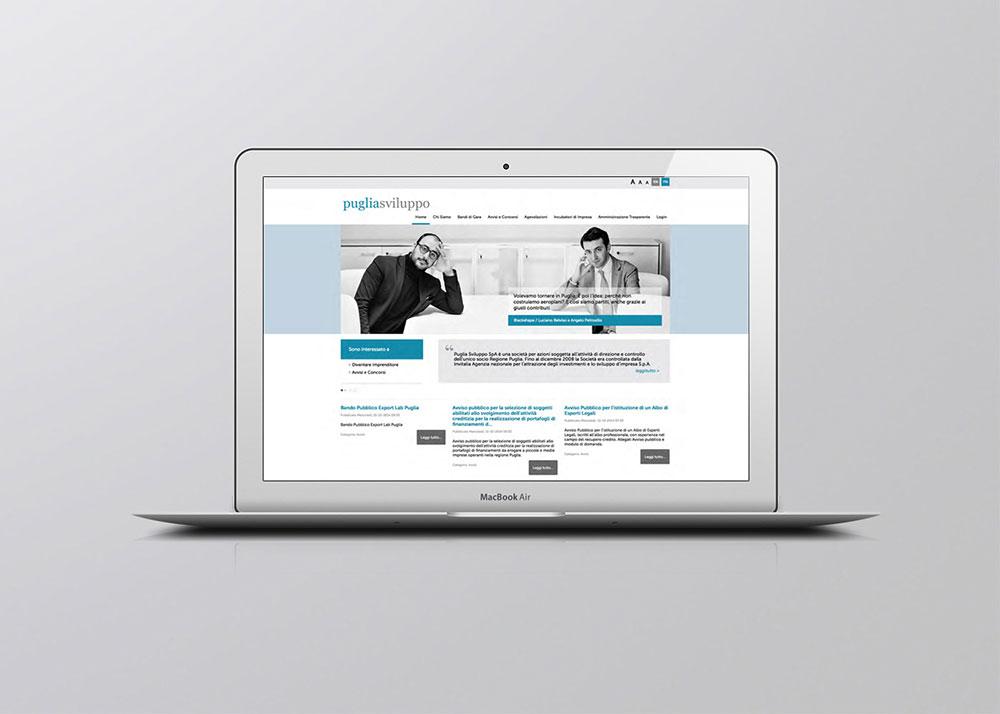 Puglia sviluppo website