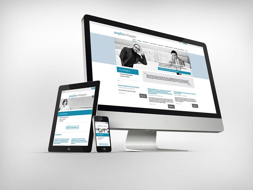 Puglia sviluppo portale web