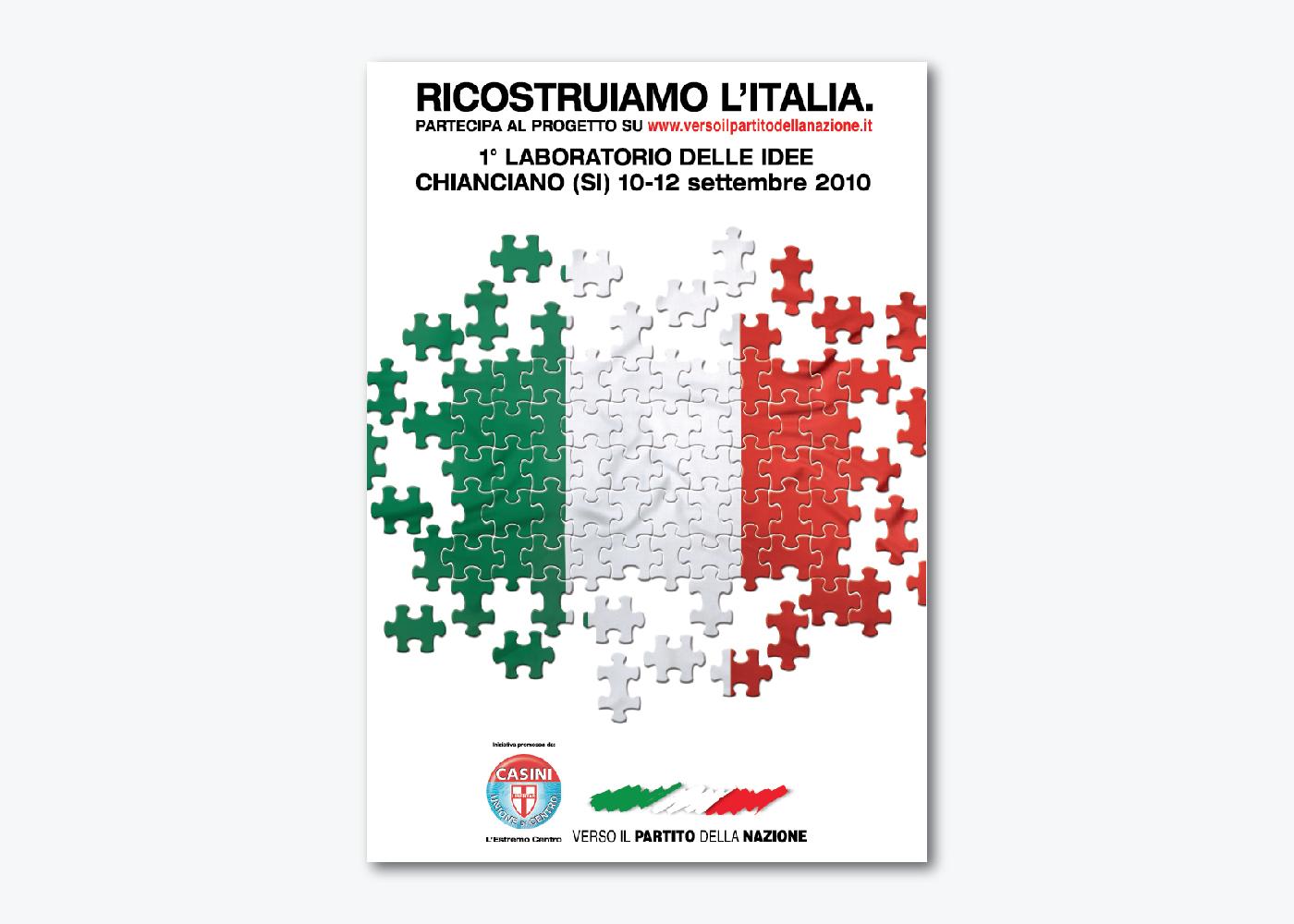 Progettazione visual identity Congresso nazionale UDC
