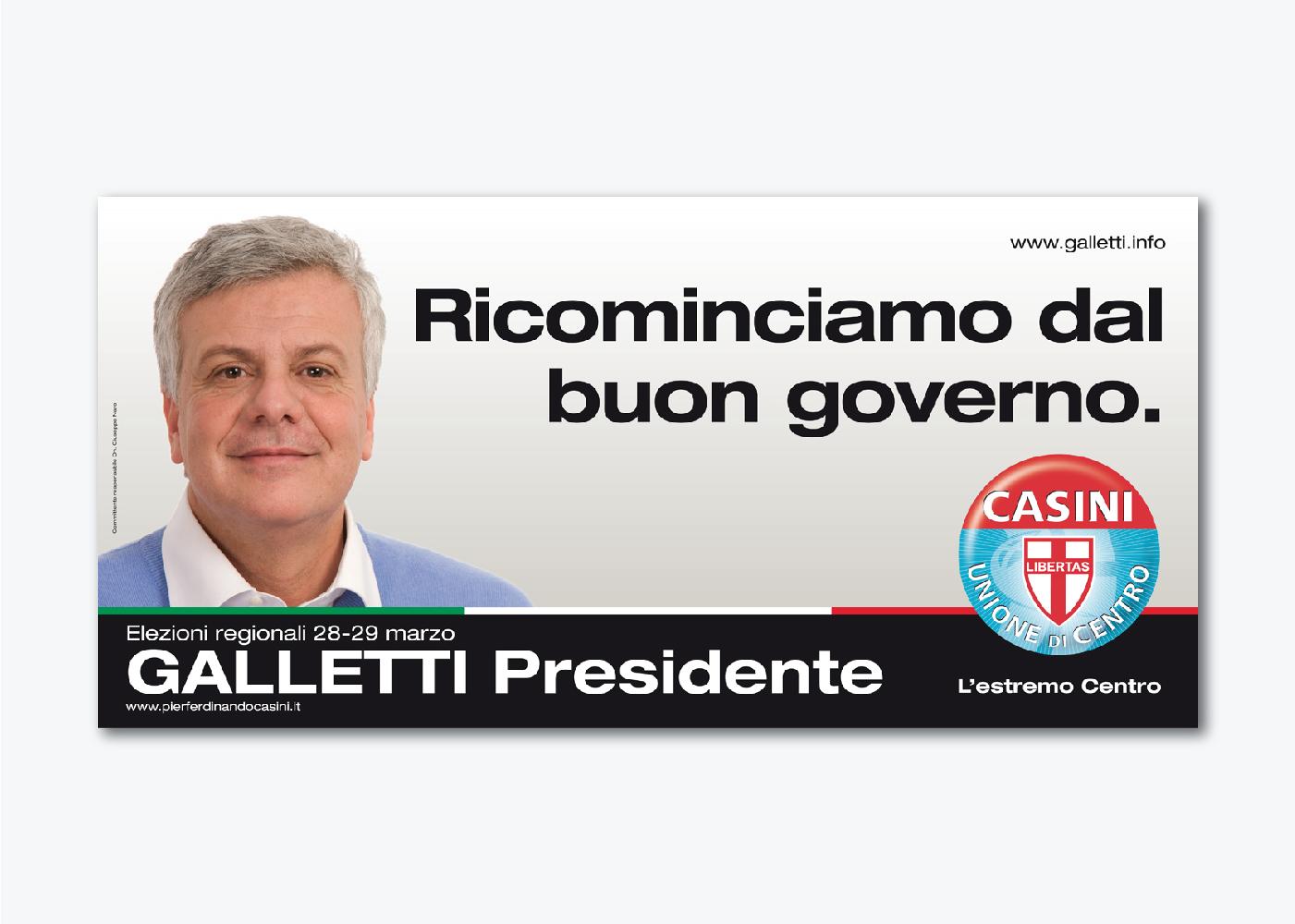 Campagna di comunicazione Galletti UDC Emilia Romagna