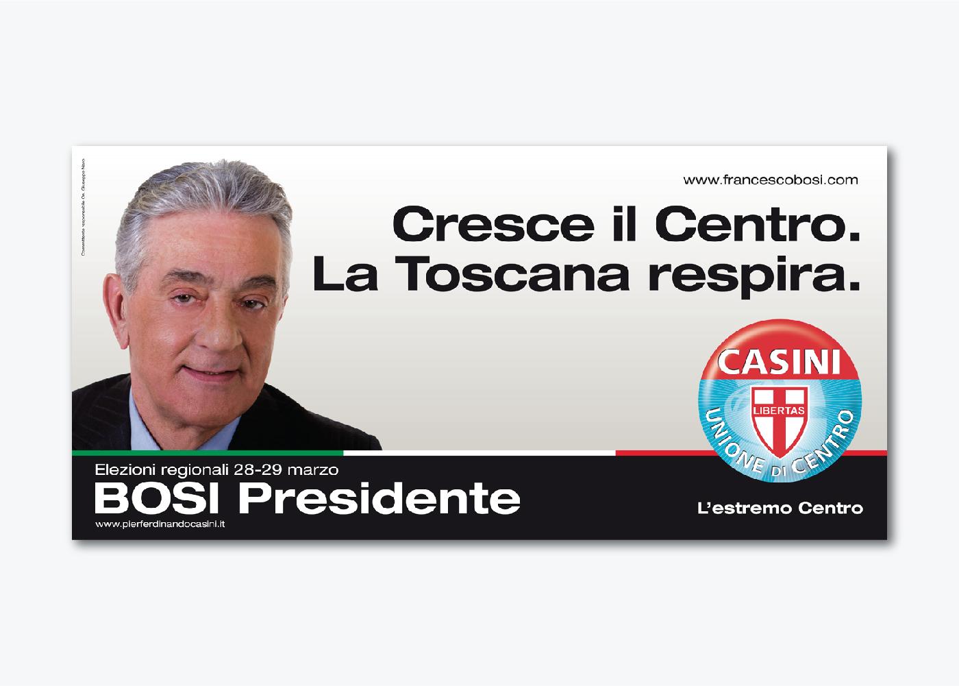 Campagna di comunicazione Tosi UDC Toscana