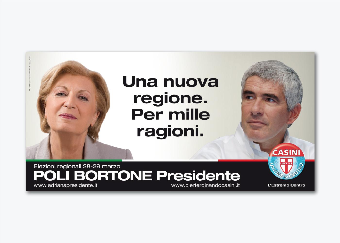 Campagna di comunicazione Adriana Poli Bortone UDC Puglia