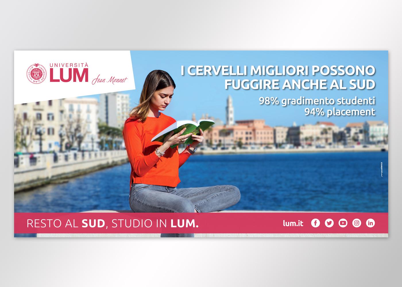 Lum pubblicità università