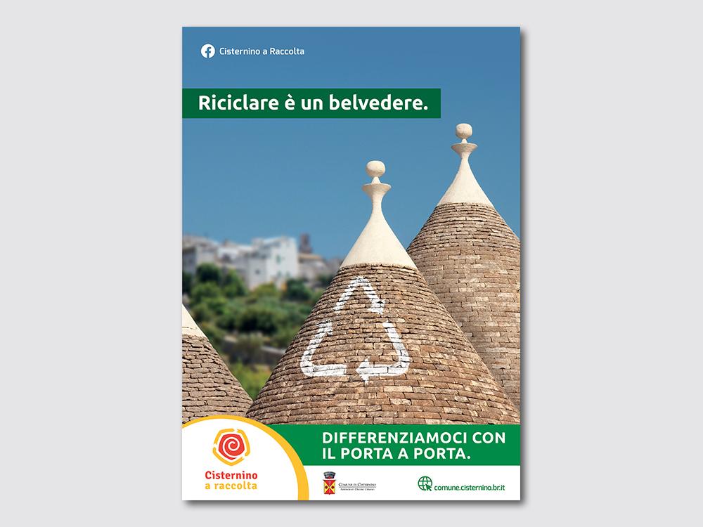 Manifesto Campagna riciclo Comune di Cisternino