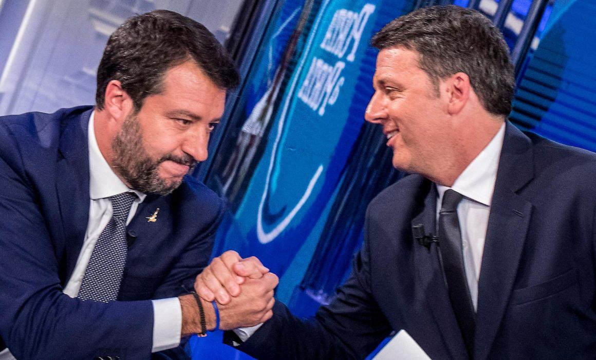 La sfida Salvini Renzi comunicazione politica